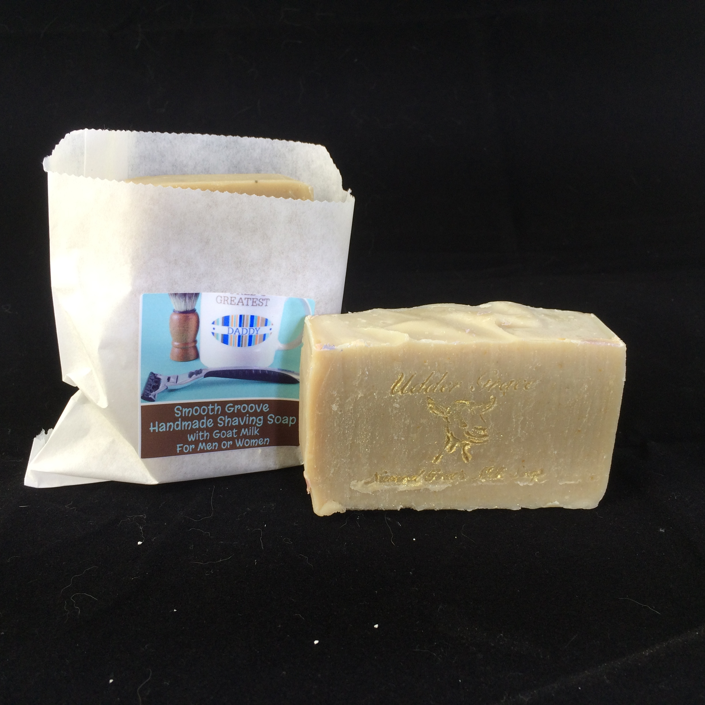 shaving soap with goat milk - handmade