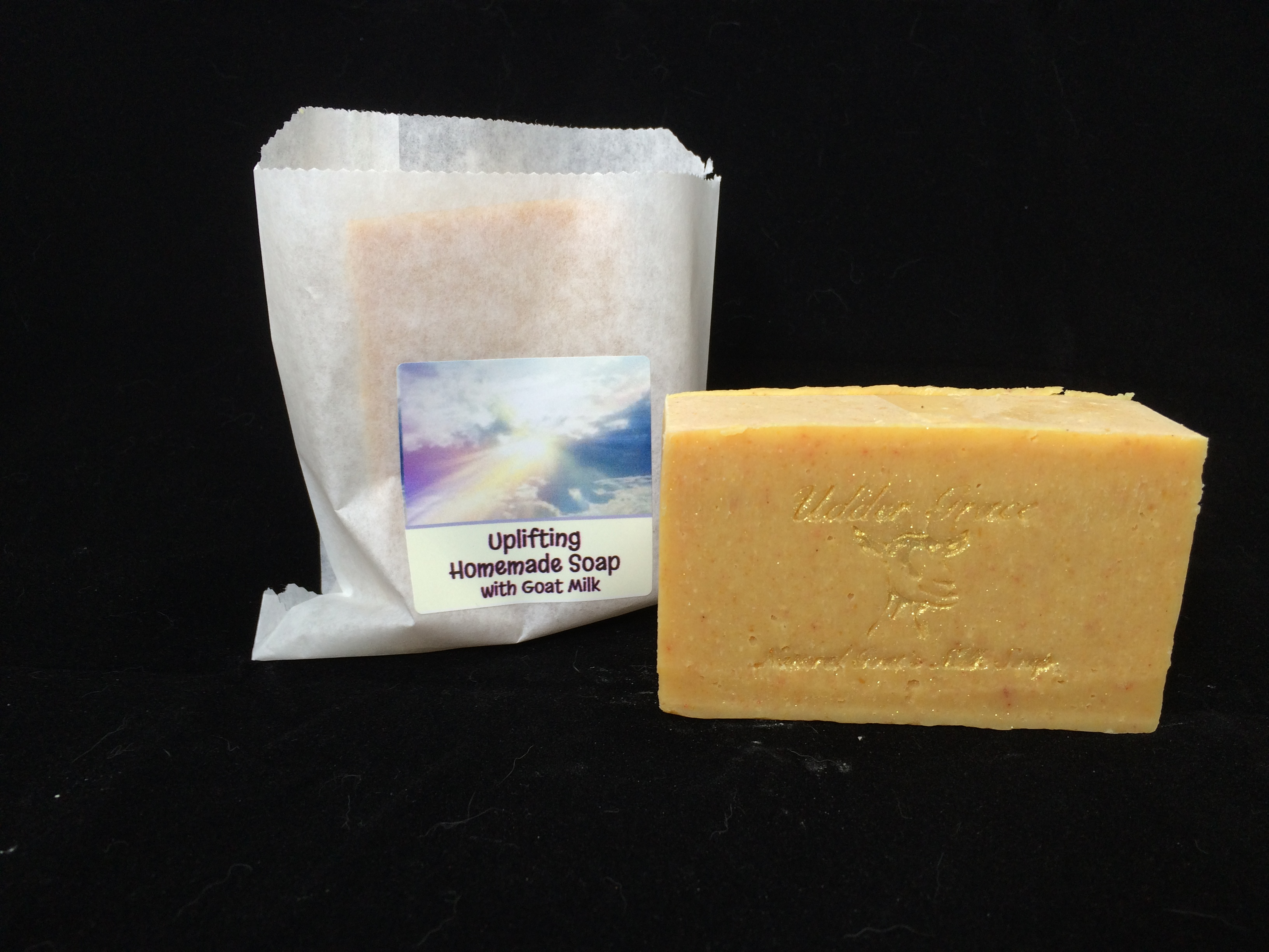 Handmade soap with goat milk- uplifting scent