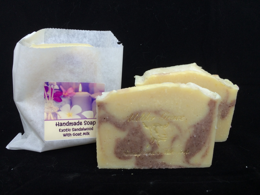 Sandalwood handmade soap with goat milk