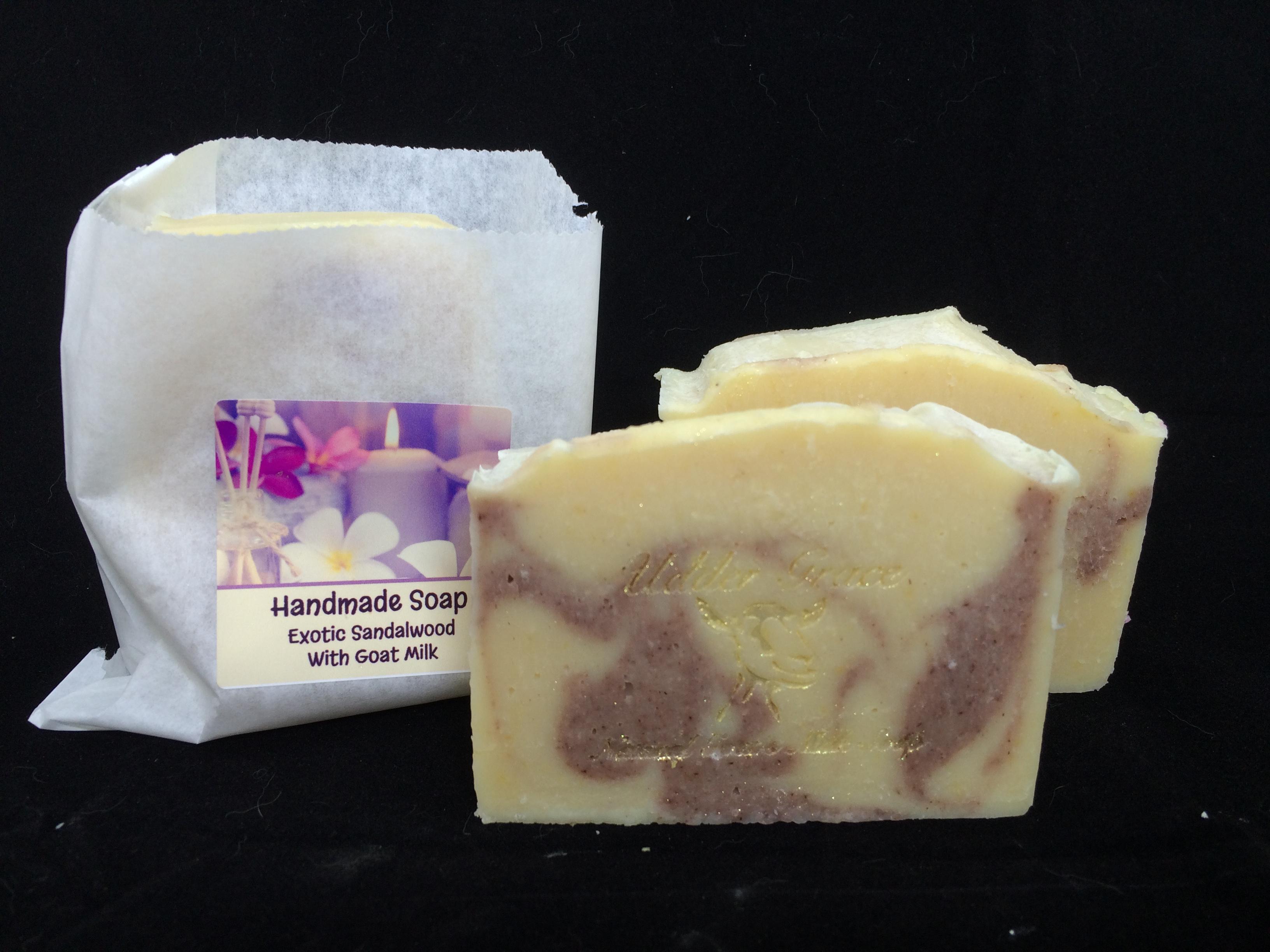Sandalwood handmade soap with goat milk