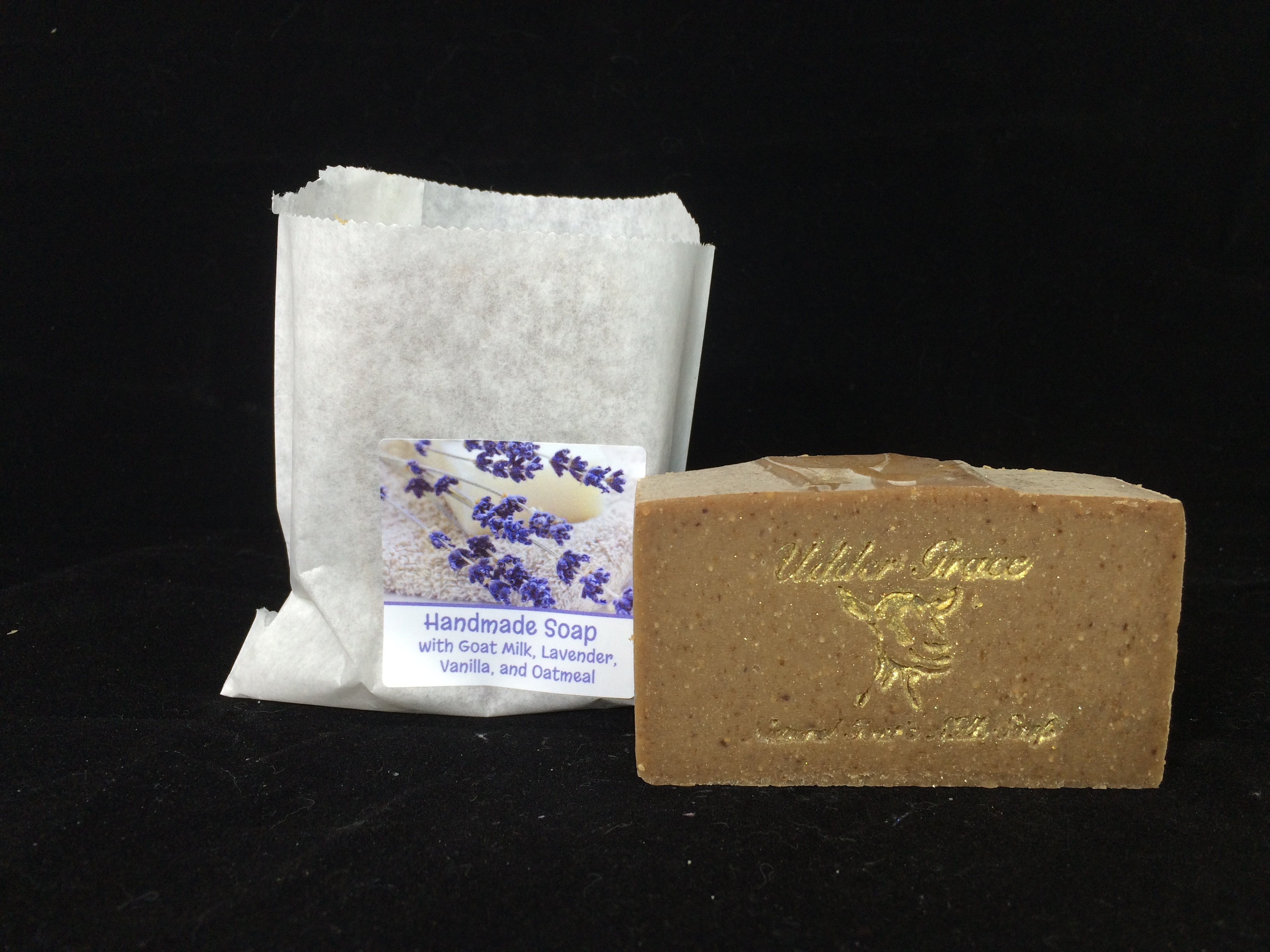 Lavender vanilla oatmeal goat milk soap