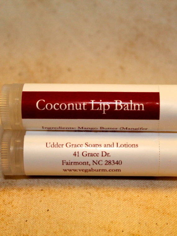 Coconut handmade lip balm