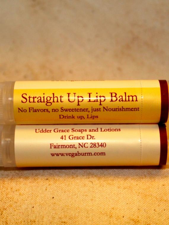 Plain handmade lip balm