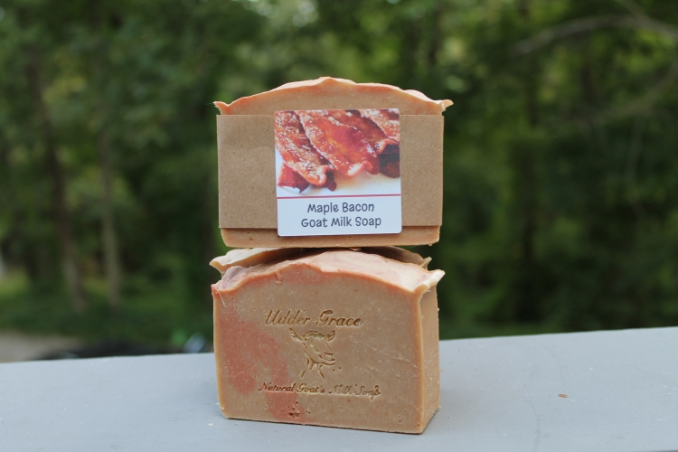 Handmade soap with goat milk Maple bacon scentHandmade soap with goat milk Maple bacon scent