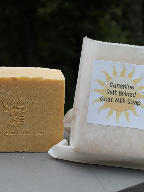 sunshine salt goat milk soap