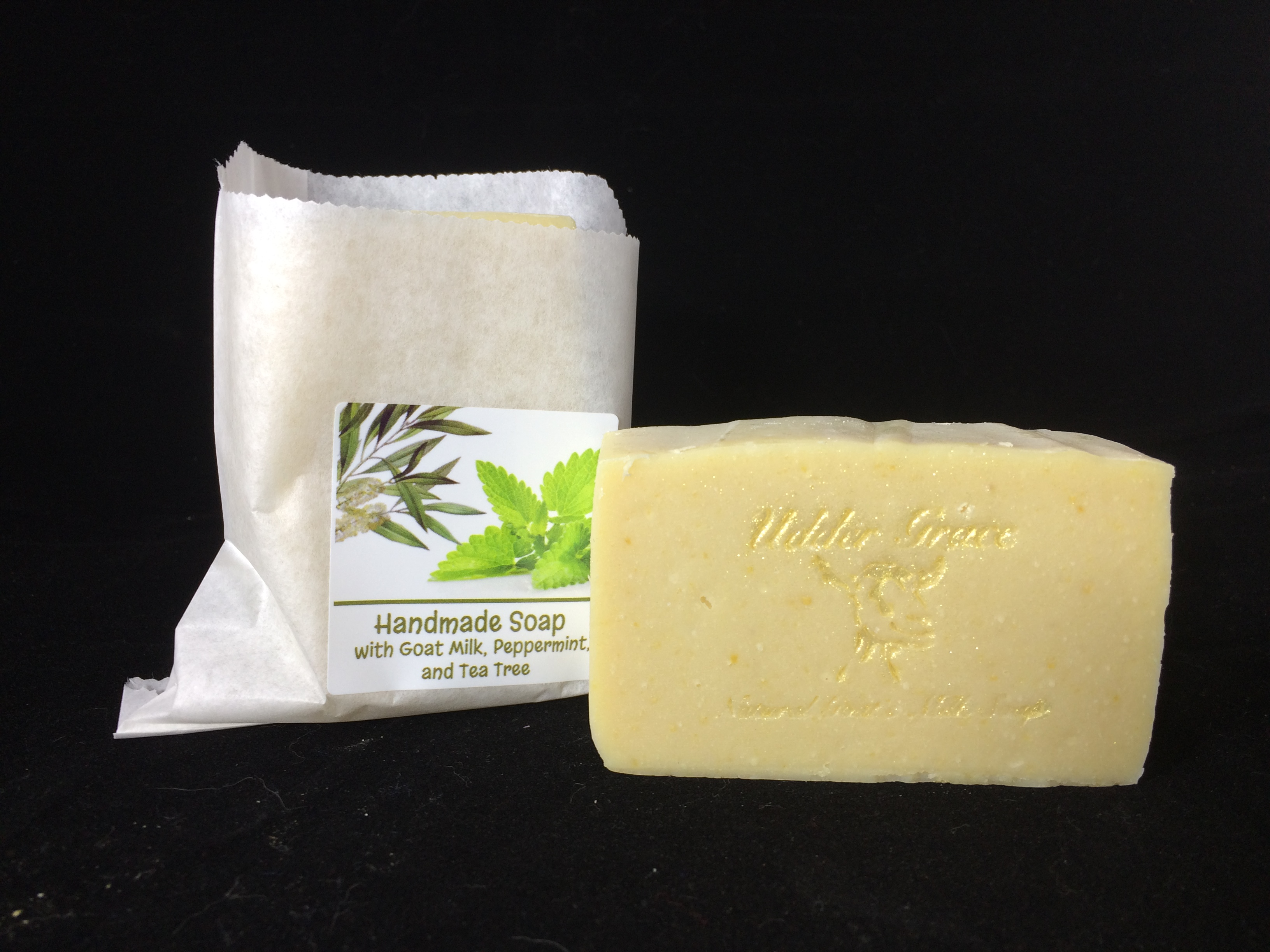 peppermint and tea tree goat milk soap