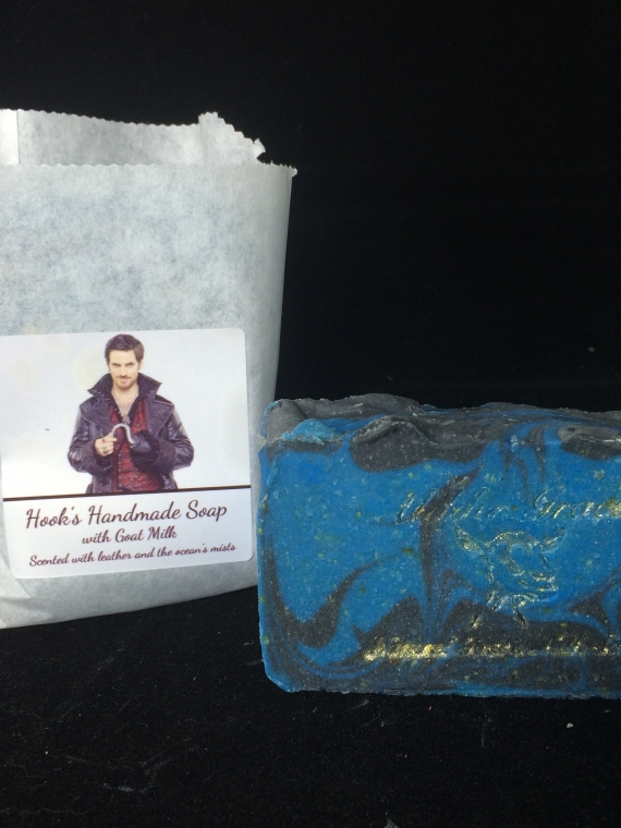 leather and ocean mist handmade soap with goat milk inspired by once upon a time's Hookleather and ocean mist handmade soap with goat milk inspired by once upon a time's Hook