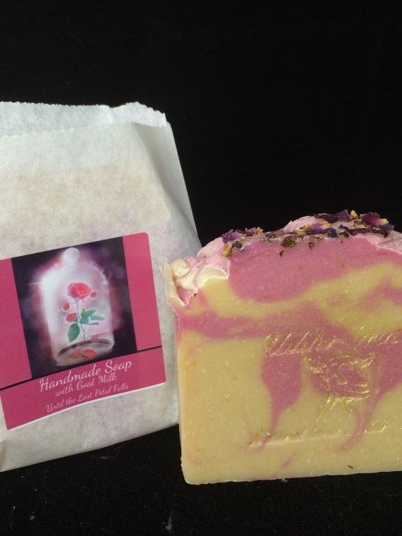 rose scented handmade soap with goat milk