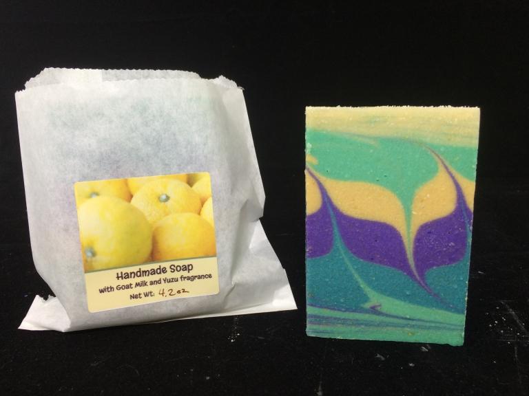 yuzu goat milk soap handmade