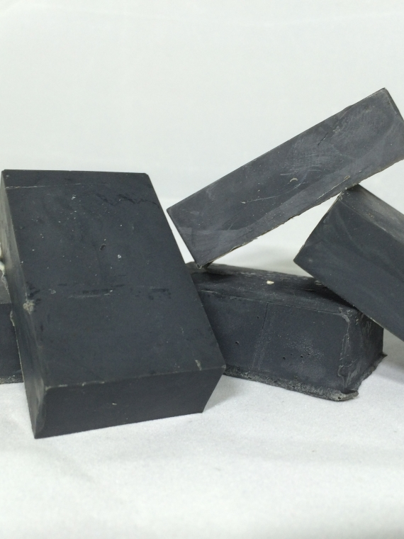 facial soap with tea tree, activated charcoal, and neem