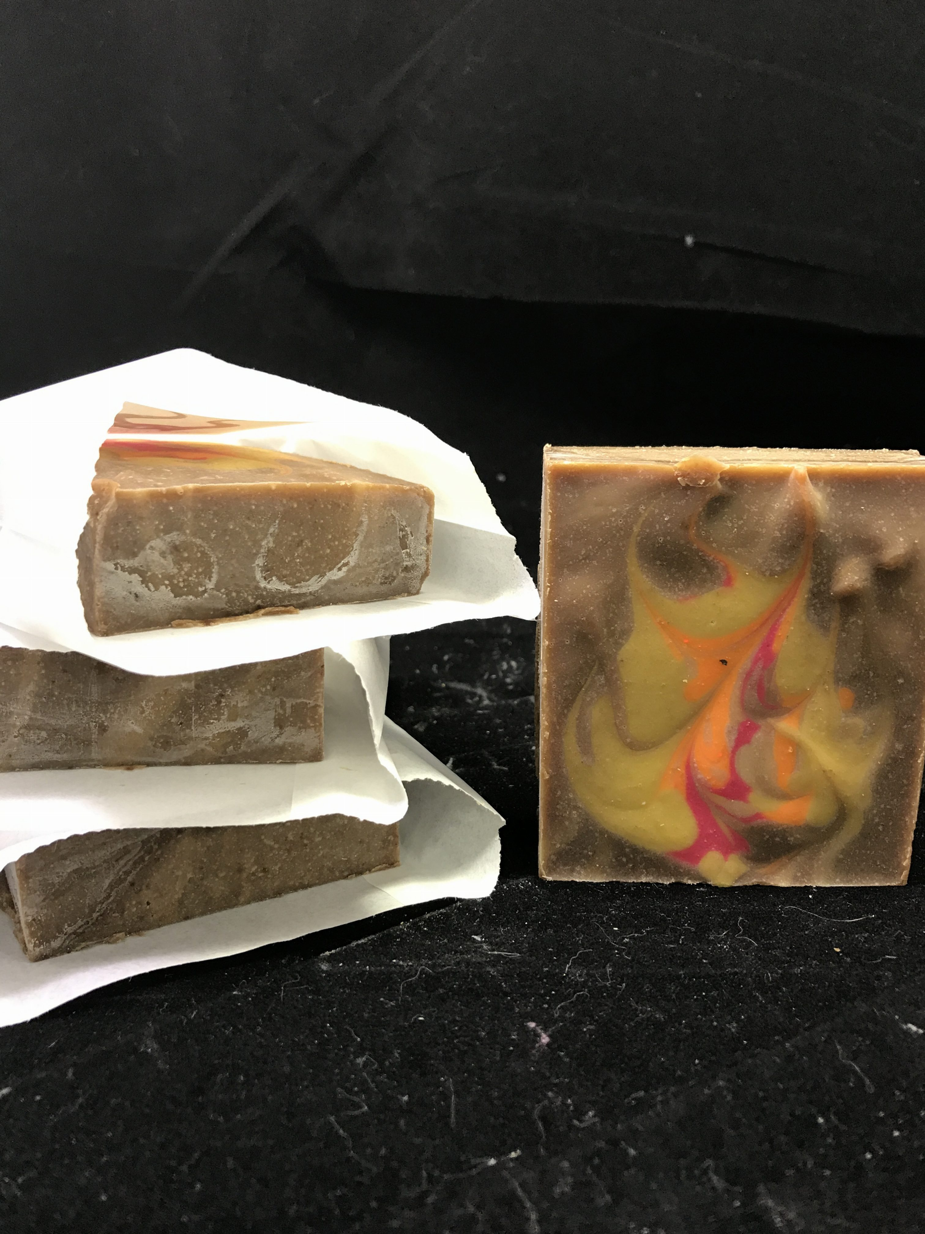 maleficent themed soap with goat milk