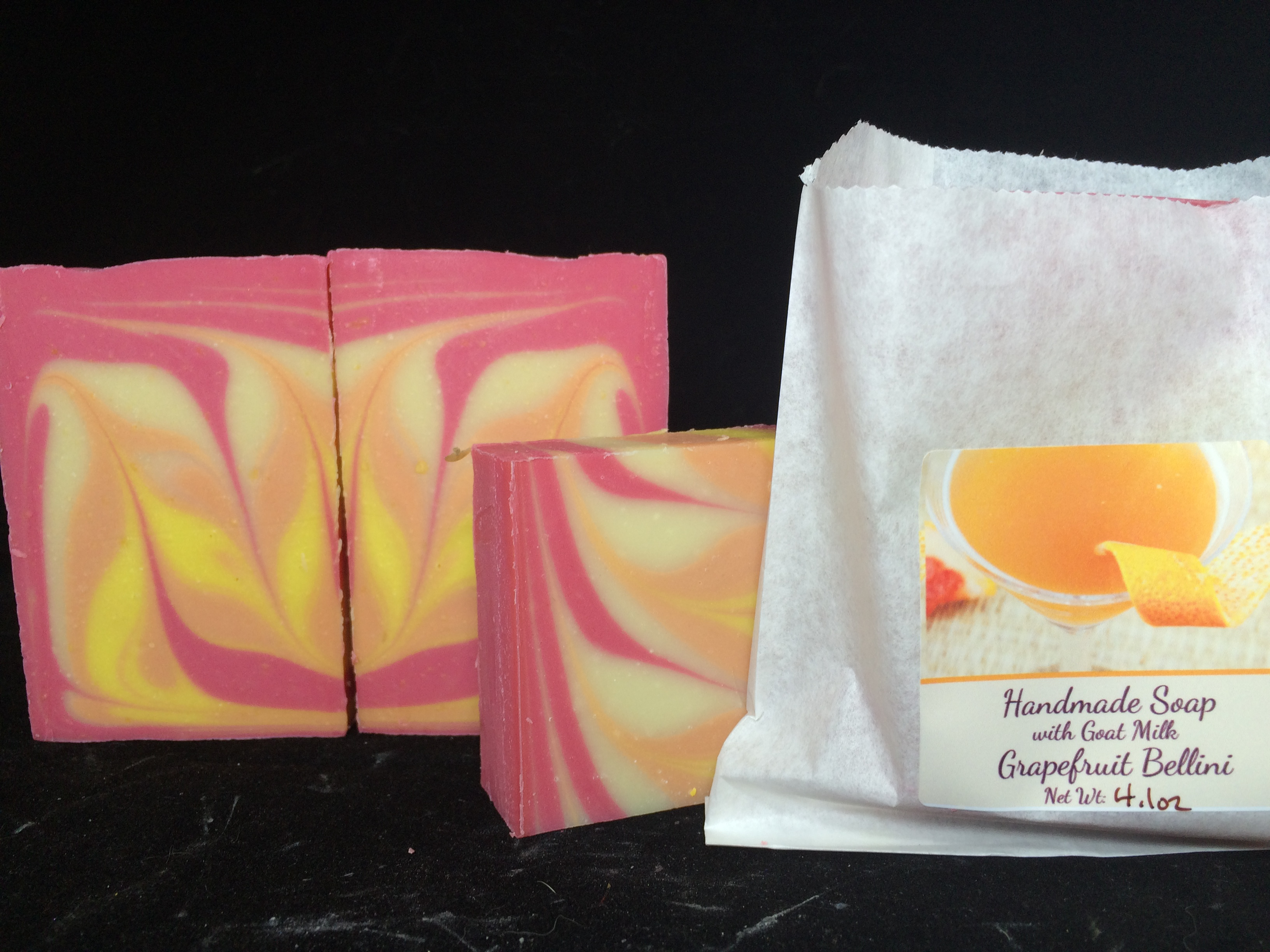 grapefruit bellini soap with goat milk