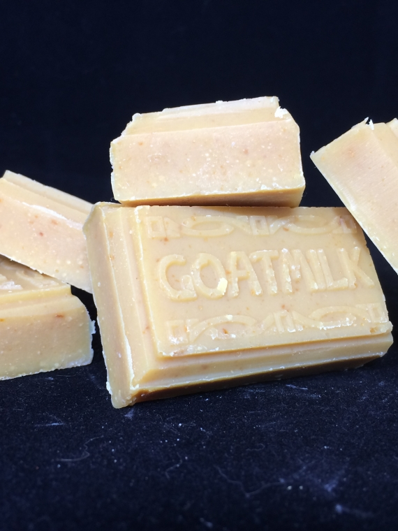 lemongrass triple butter trial size soap bars with goat milk
