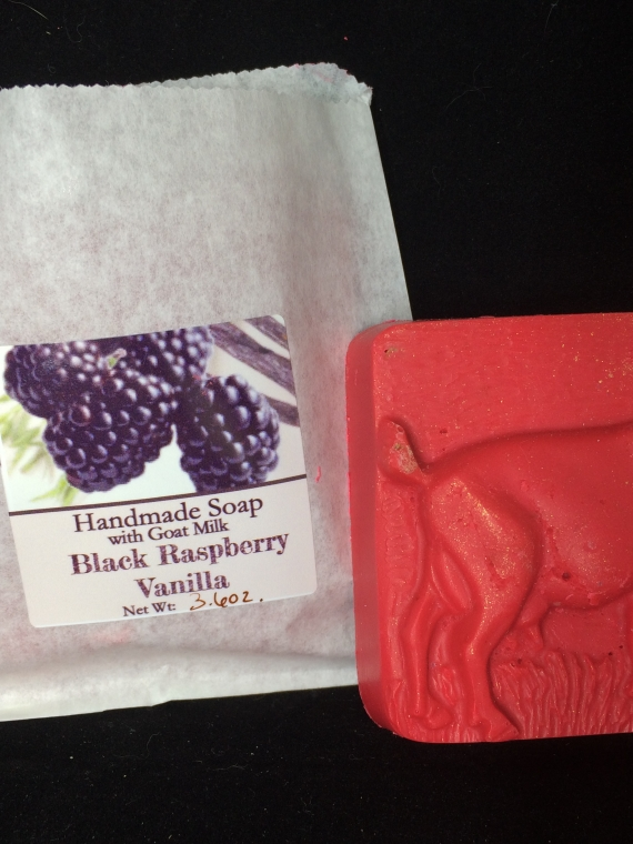 Goat molded black raspberry vanilla soap