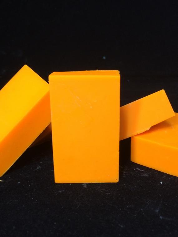 Tennessee orange trial size goat milk soap bars