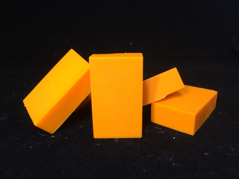 Tennessee orange trial size goat milk soap bars