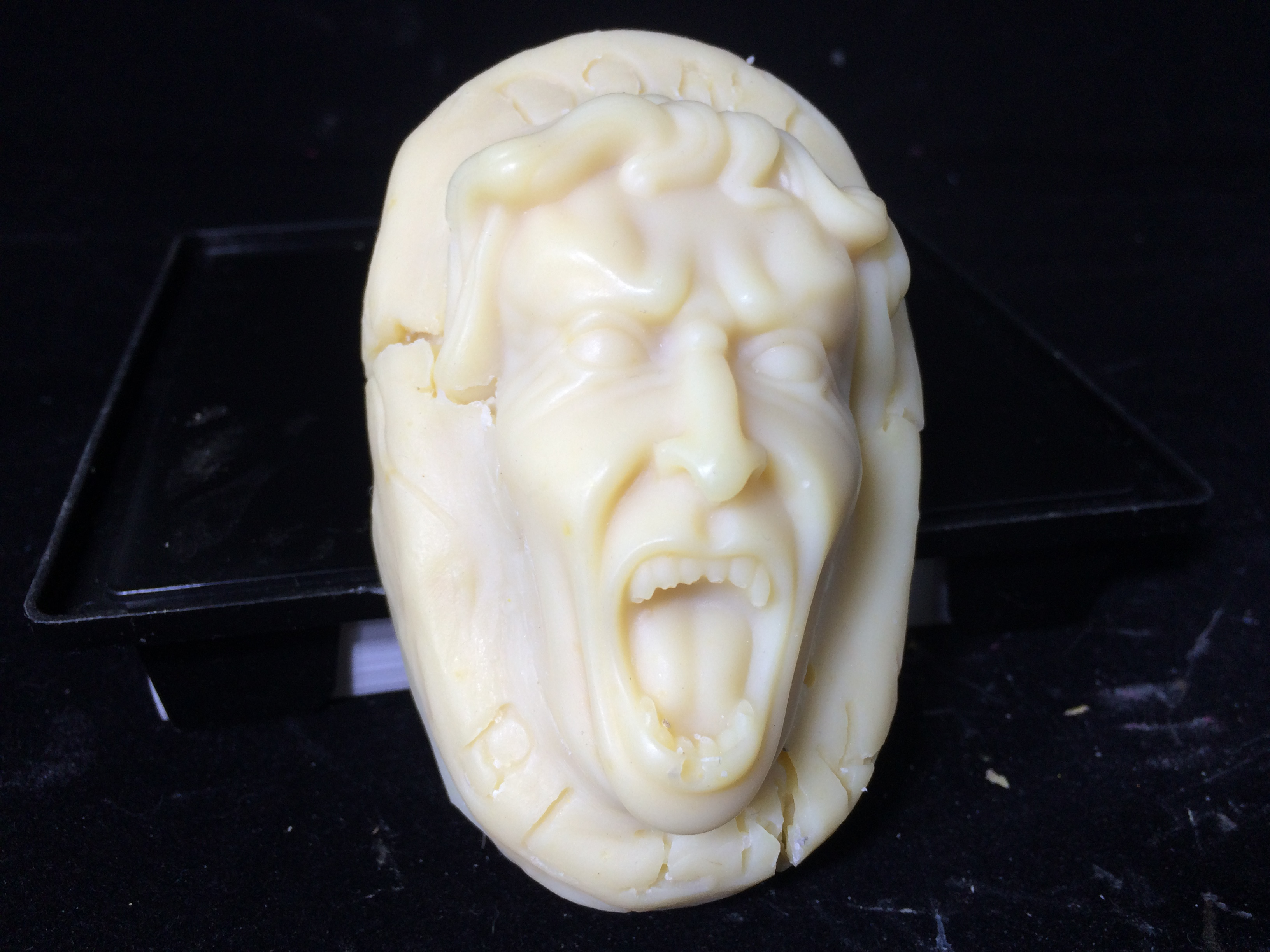 peppermint and Tea Tree weeping angel goat milk soappeppermint and Tea Tree weeping angel goat milk soap
