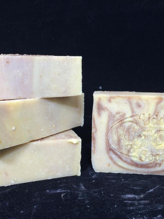 ginger patchouli goat milk soap