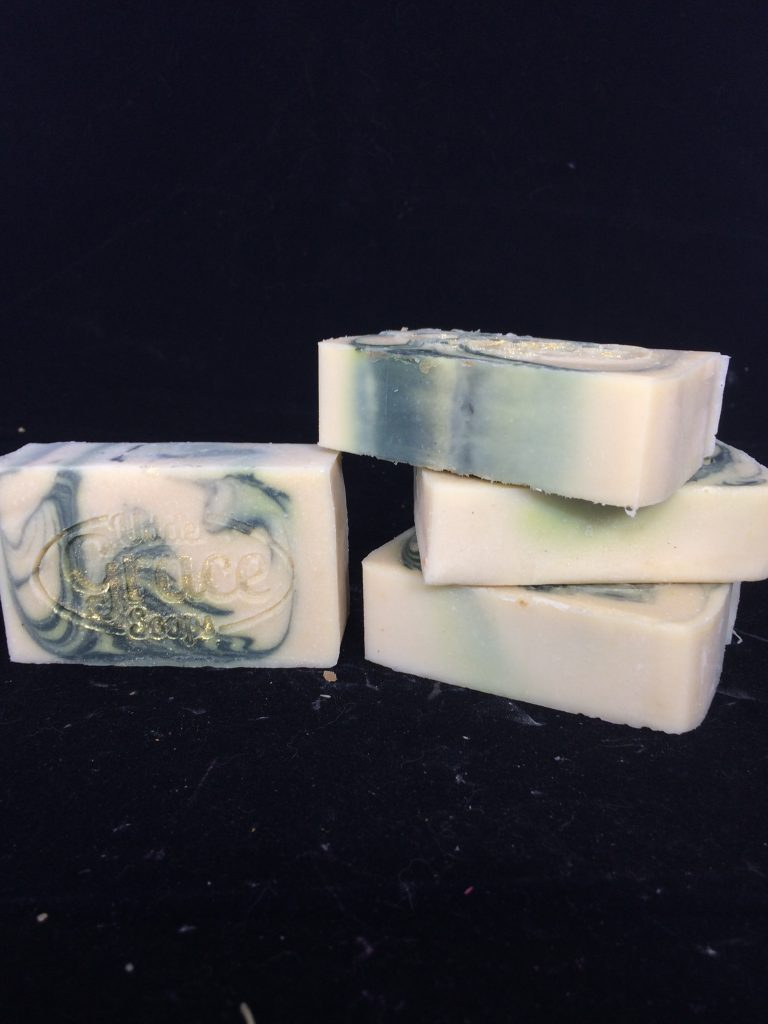 Winter Wonderland handmade soap with goat milk