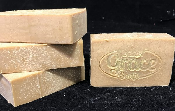 handmade soap with goat milk in almond biscotti scent