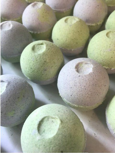 lavender lime bath bomb